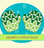 Christmas mittens Royalty Free Stock Photos