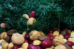 Christmas Mixed Nuts Stock Photography