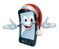 Christmas Mobile Mascot Royalty Free Stock Photo
