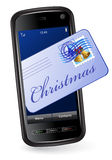 Christmas mobile phone Stock Photos