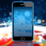 Christmas mobile phone background. Red blue christmas mobile phone background Royalty Free Illustration