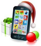 Christmas mobile phone illustration Stock Image