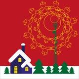 Christmas. Mobile tower transmits christmas song into the home Stock Photography