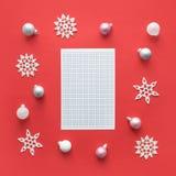 Christmas mockup stock photo