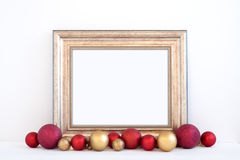 Christmas mockup styled stock photography with gold frame Stock Photo