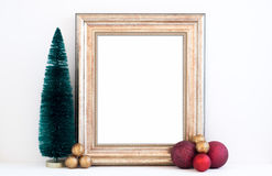 Christmas mockup styled stock photography with gold frame Royalty Free Stock Photos