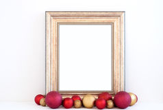 Christmas mockup styled stock photography with gold frame Royalty Free Stock Photography