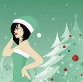 Christmas model Royalty Free Stock Photography