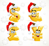 Christmas Monetary signs smiles Royalty Free Stock Image