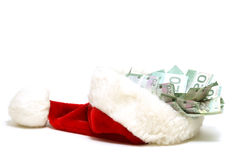 Christmas Money Stock Photography