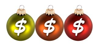 Christmas and money Royalty Free Stock Photos