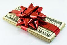 Christmas money royalty free stock photo