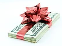 Christmas money Royalty Free Stock Photos