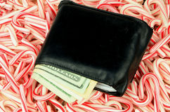 Christmas Money Long Royalty Free Stock Photography