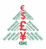 Christmas money tree Royalty Free Stock Images