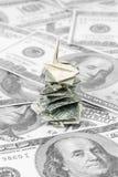 Christmas money tree Stock Image