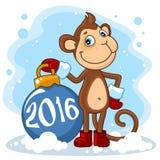 Christmas monkey Stock Images