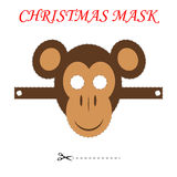 Christmas monkey mask Royalty Free Stock Photos