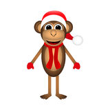 Christmas monkey Royalty Free Stock Photos
