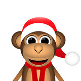 Christmas monkey Stock Photography