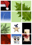 Christmas montage. A christmas montage of colorful decorations and graphics Stock Image