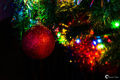 Christmas mood. Christmas lights and decoration royalty free stock photography