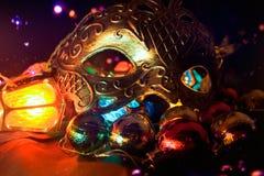 Christmas mood mask. Royalty Free Stock Photos