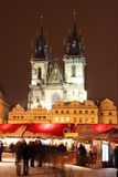 Christmas Mood on the Old Town Square, Prague Royalty Free Stock Images