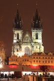 Christmas Mood on the Old Town Square, Prague Royalty Free Stock Photos