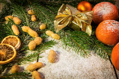 Christmas mood on a table Royalty Free Stock Photo
