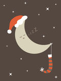 Christmas moon Stock Photography