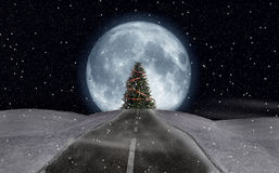 Christmas moon Royalty Free Stock Image