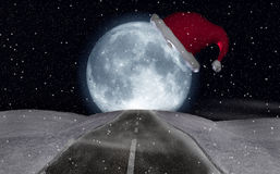 Christmas moon Royalty Free Stock Photo