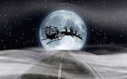 Christmas moon Stock Photos