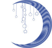 Christmas moon. Christmas ornament with blue moon Stock Image