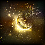 Christmas and  moon Royalty Free Stock Images