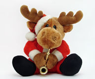 Christmas Moose. With saxophone on a white background Stock Photo