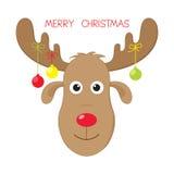 Christmas moose. Cute and funny Christmas moose Stock Photo