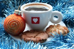 Christmas morning Stock Photo
