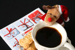 Christmas Morning Coffee Stock Photo