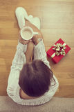 Christmas morning coffee Royalty Free Stock Image