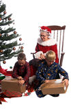 Christmas Morning Excitement Royalty Free Stock Photography