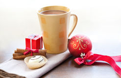 Christmas morning and new year stock photo