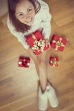 Christmas morning surprise Stock Photo