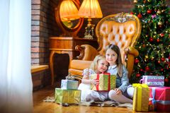 Christmas morning royalty free stock photography