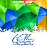 Christmas Mosaic Pattern Royalty Free Stock Photos