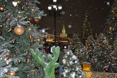 Christmas in Moscow stock image