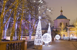 Christmas Moscow Stock Images