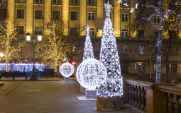 Christmas Moscow Royalty Free Stock Photography