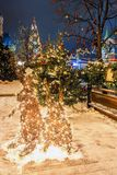 Christmas in Moscow. Festive decoration of Red Square in Moscow.  royalty free stock images